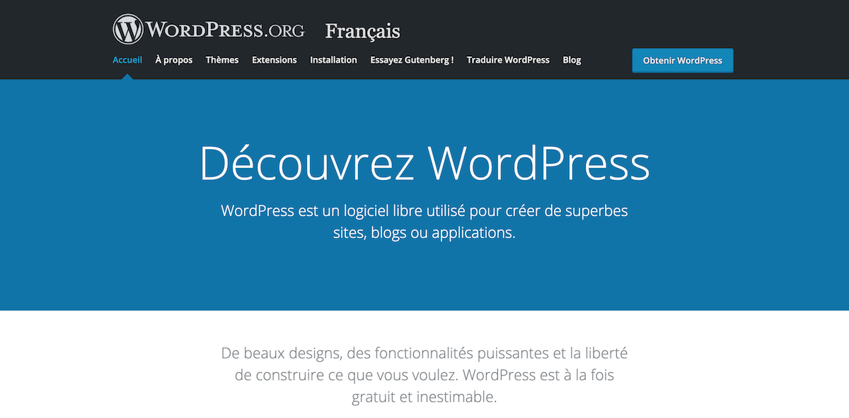 Page accueil wordpress.com